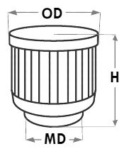 AIRAID Breather Filter Dimensions