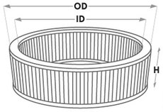 Round Filter Dimensions