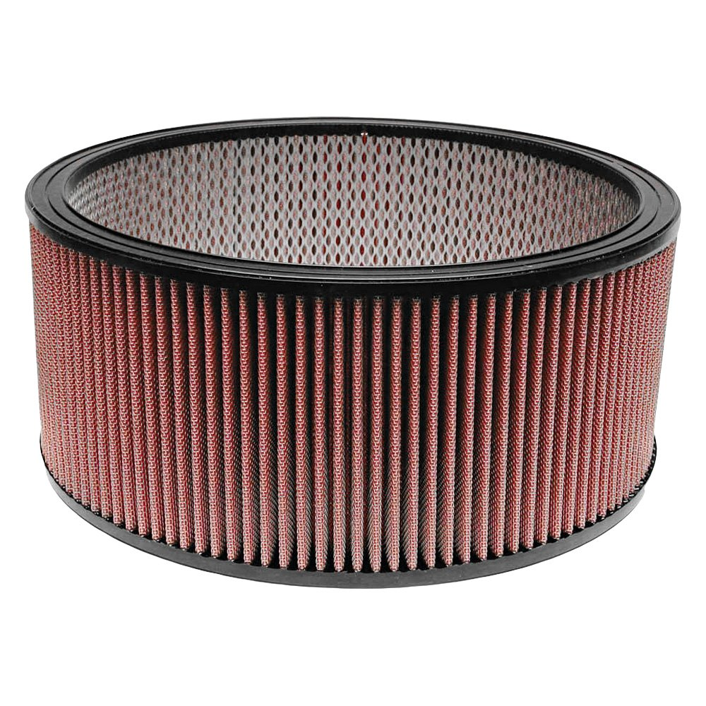 12 Round Air Cleaner : Airaid synthaflow round red air filter with