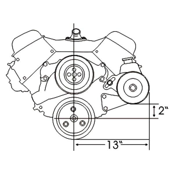 chevelle power steering pump diagram