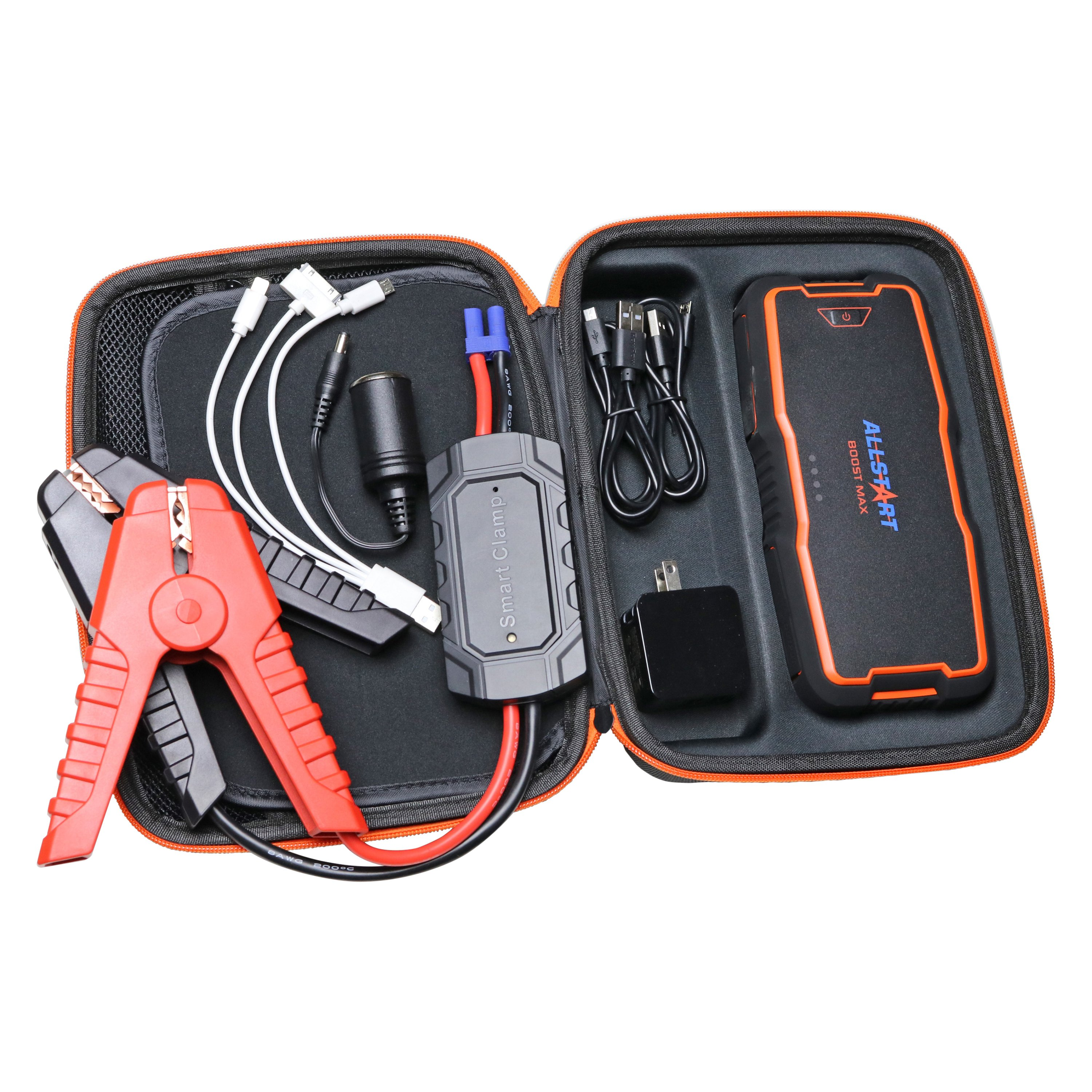 Allstart 550 Portable Power Source Jump Start with Intelli Clamps Boost Max 400A