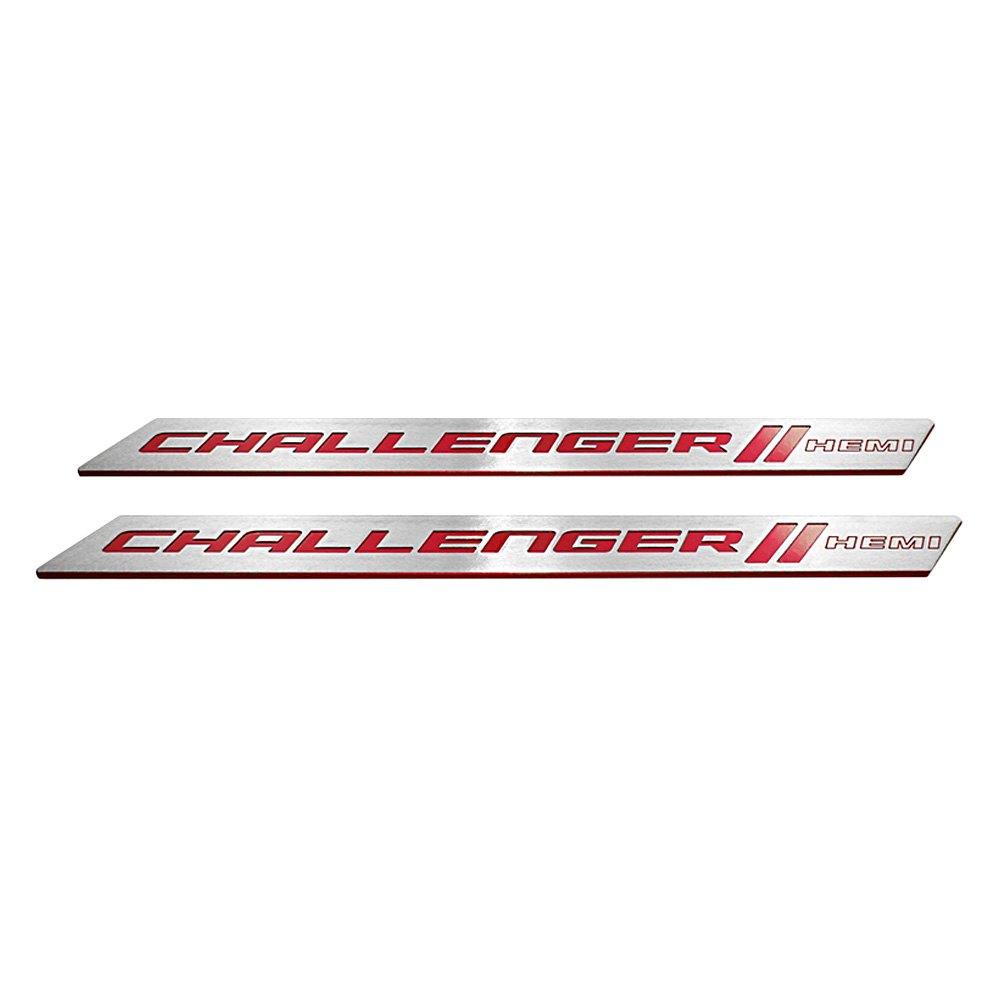 Dodge Challenger 2016 Brushed Door Sills With HEMI Logo