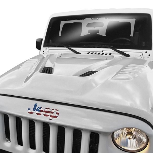 Mean Looking JK Grille And A Custom Hood