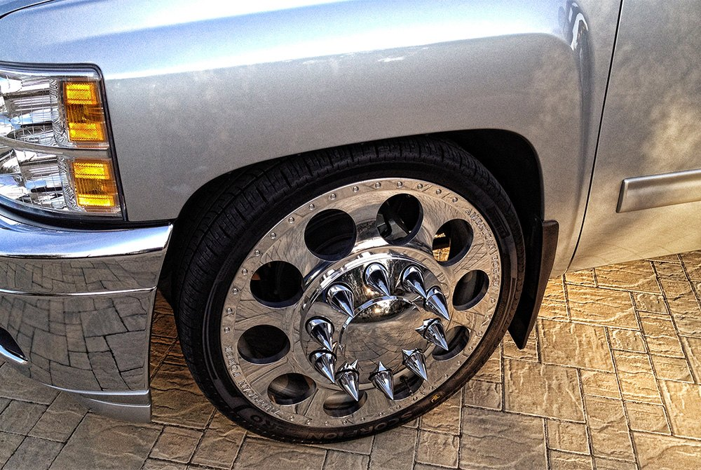 Holes Dually With Adapter Polished Chevy Silverado on Dodge 3500 Dually Parts