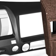American International® - Dark Gray Stereo Dash Kit
