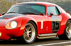 AMERICAN RACING® - SHELBY COBRA Gray with Polished Lip on Shelby Daytona Coupe