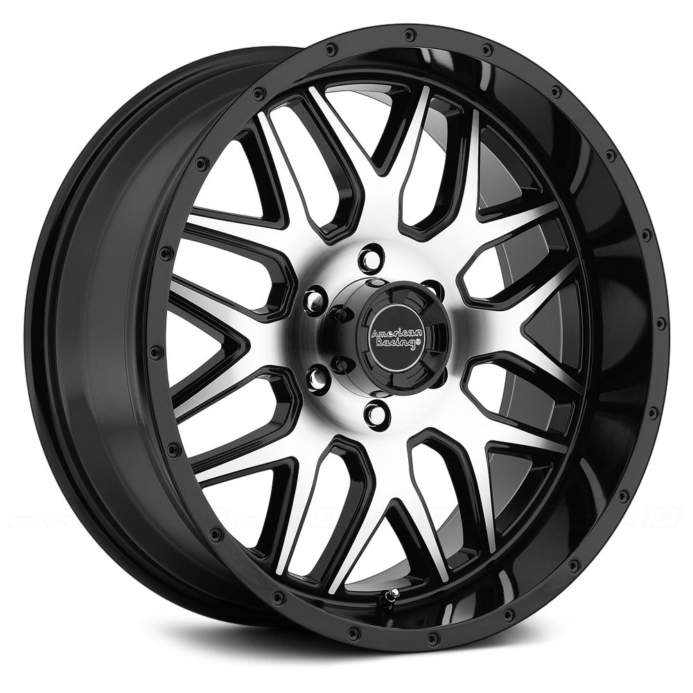 American Racing AR910 Wheels 18x9 Set of 4 Black Rims