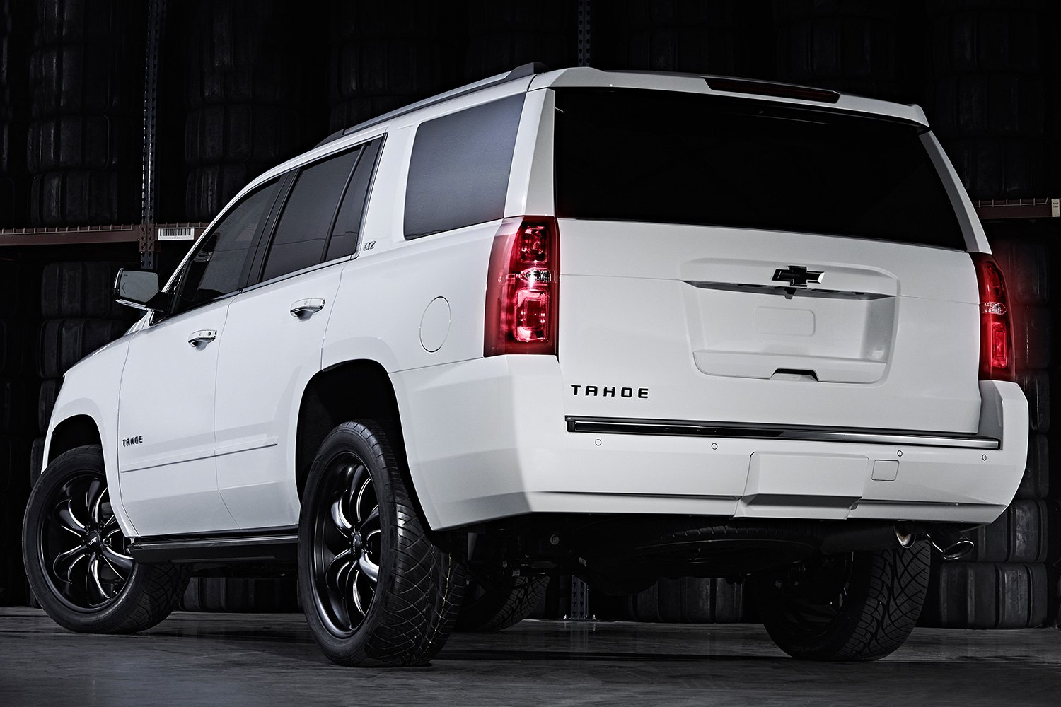 Chevy Tahoe Rims And Tires ... ® - AR914 TT60 TRUCK Satin Black with Milled Accents on Chevy Tahoe