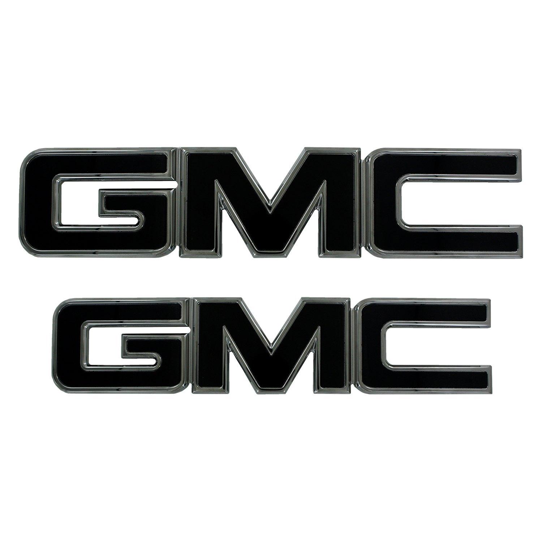 AMI 96514KP GMC Grille Emblem Polished//Black Powder coat 2 Pack