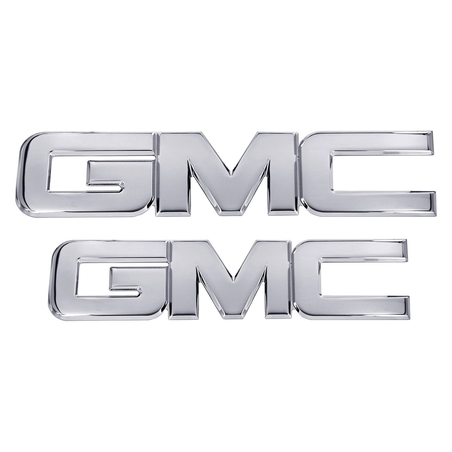 style polished grille and tailgate emblemsami gmc style black powder coated grille and tailgate emblemsami gmc style polished grille emblemami