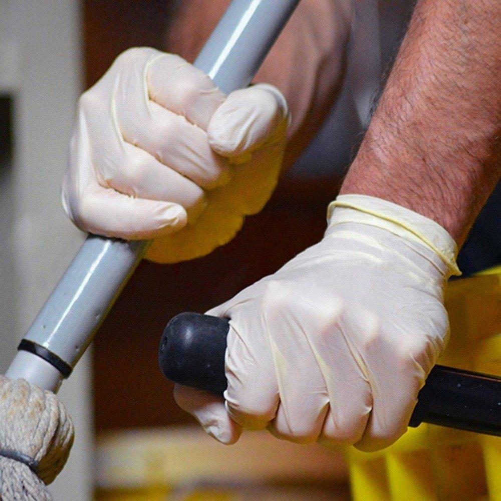 Ammex pink latex gloves