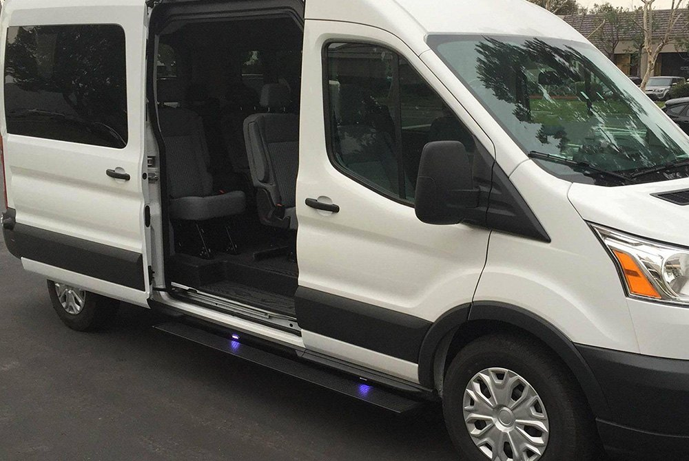 Amp Research 174 Ford Transit 2017 6 25 Quot Powerstep Black