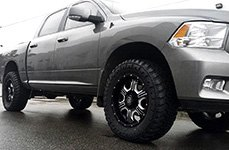 AMP® - Terrain Master M/T Tires on Dodge Ram - Side View