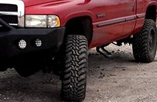 AMP® - Terrain Master M/T Tires on Dodge Ram - Front View