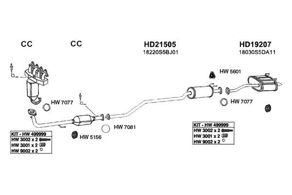 Honda Civic: 2005 Honda Civic Exhaust System Diagram | 2005 Honda Civic Schematics |  | Honda Civic - blogger