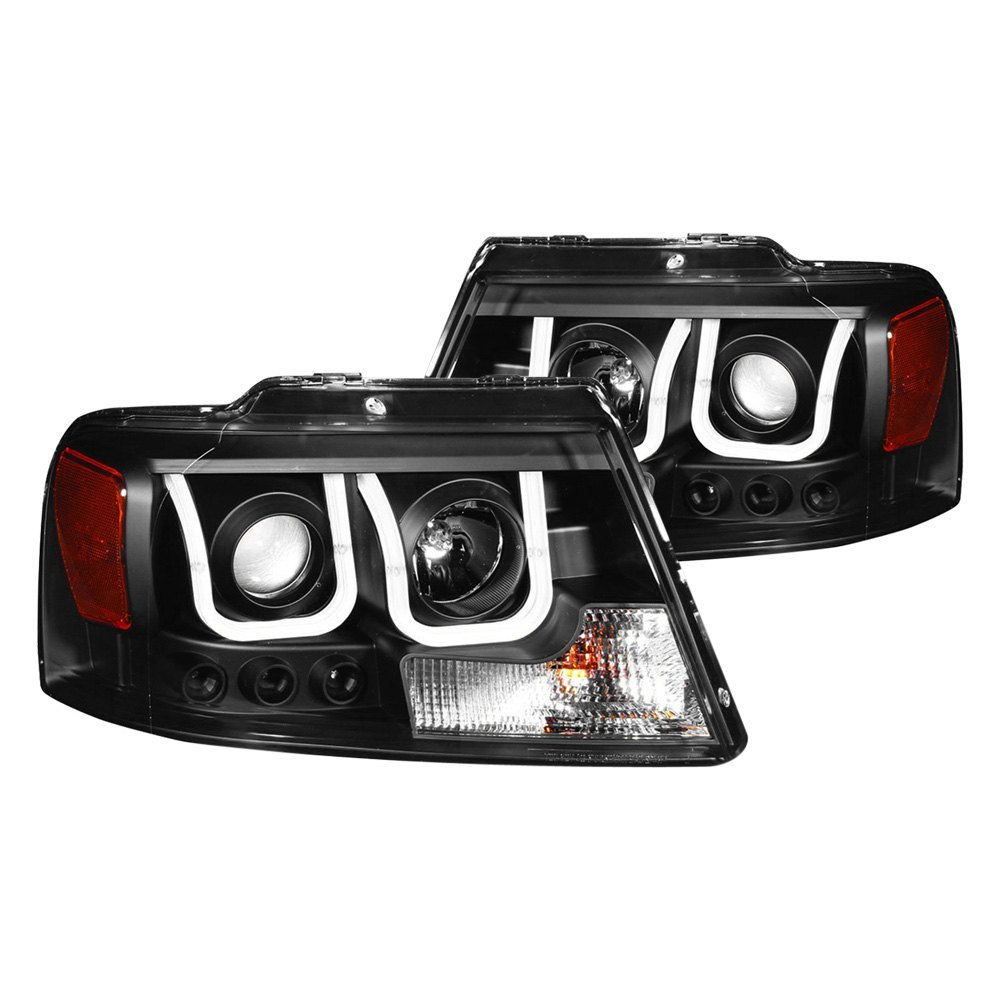 Anzo 174 111288 Black U Bar Projector Led Headlights