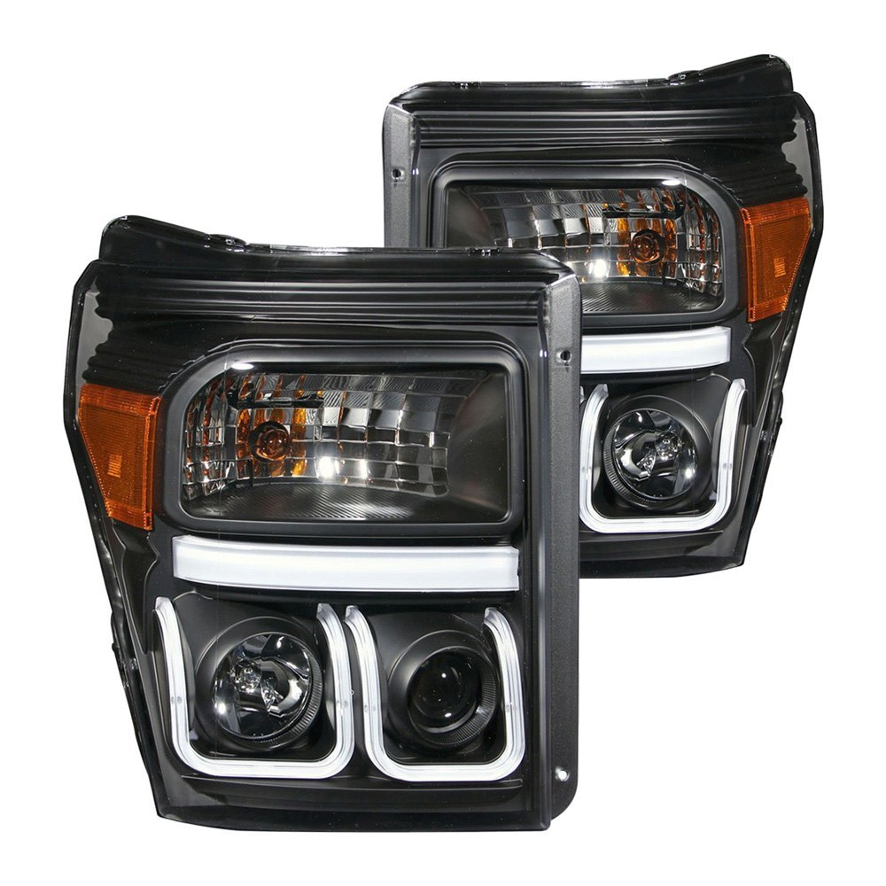 Ford F 250 Headlights : Anzo ford f with factory halogen headlights
