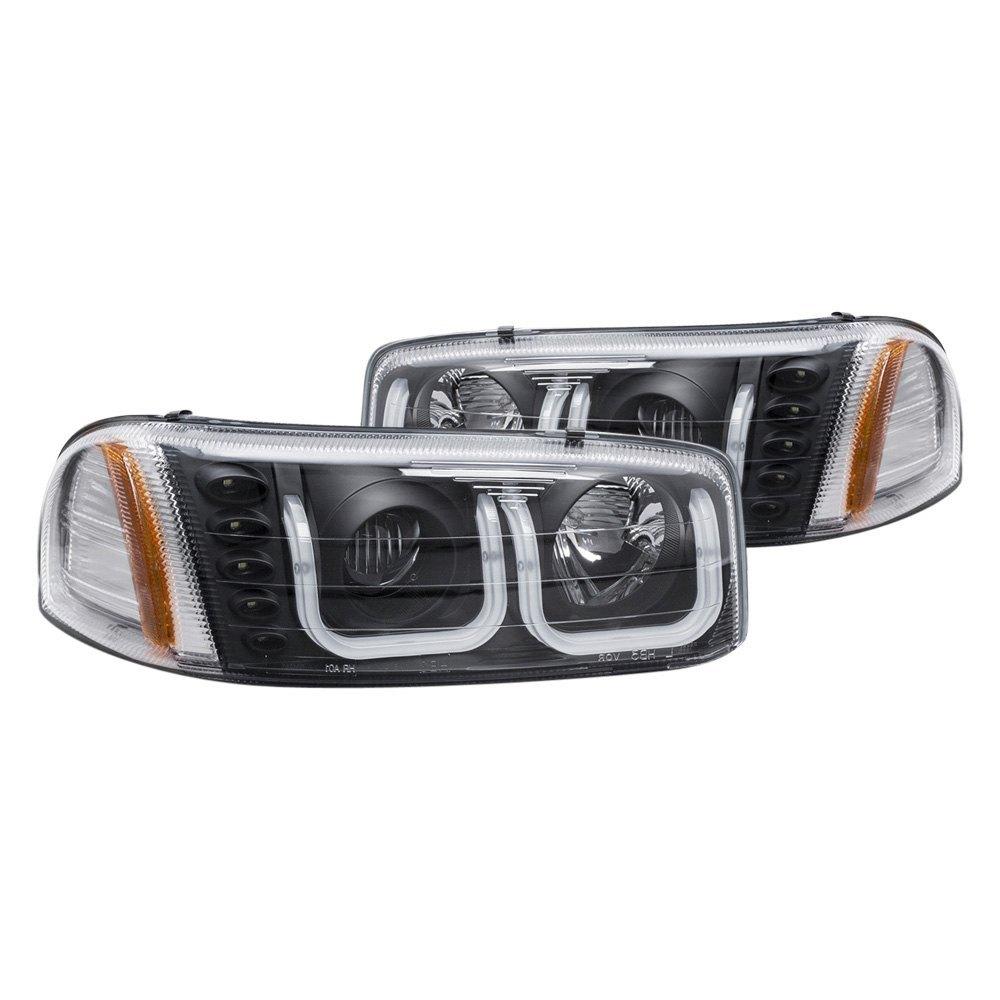 anzo gmc sierra with factory halogen headlights 2005. Black Bedroom Furniture Sets. Home Design Ideas