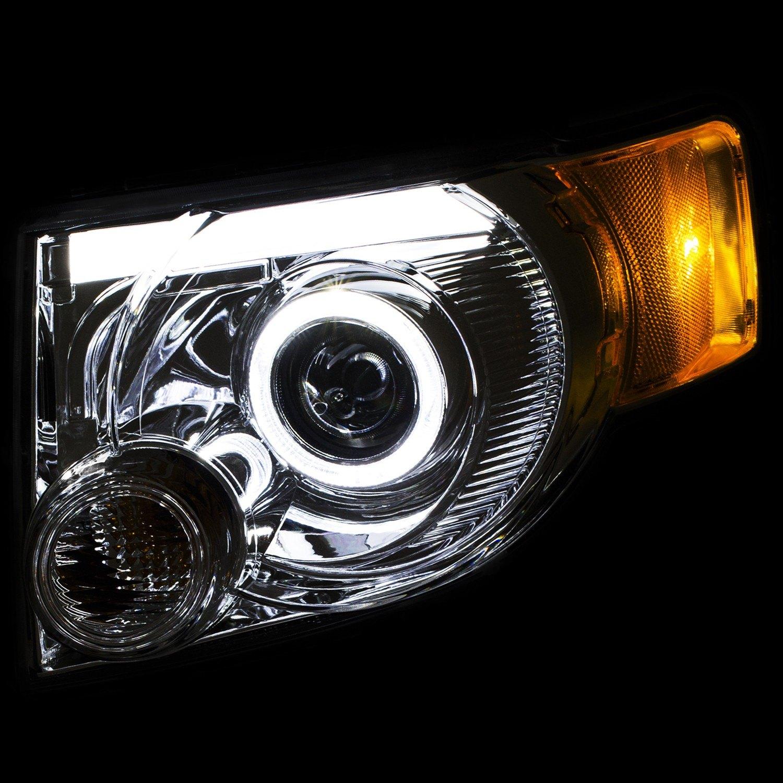 Ford Escape Accessories 2010 Anzo® 111356 - Ford Escape 2010 Chrome Halo DRL Bar Projector ...