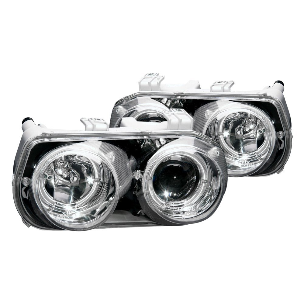 Anzo 121004 Chrome Led Halo Projector Headlights