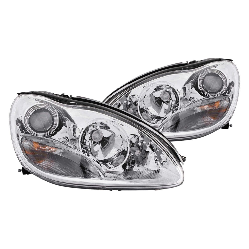 Anzo mercedes s430 s500 with factory halogen for Mercedes benz s430 headlight replacement