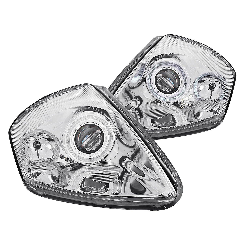Anzo mitsubishi eclipse 2003 chrome dual halo projector led headlights for 2003 mitsubishi eclipse interior lights