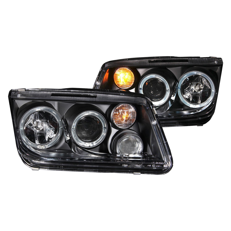 1999-2005 VW Jetta Left+Right New CCFL Halo Angel Eye Smoke Projector Headlight