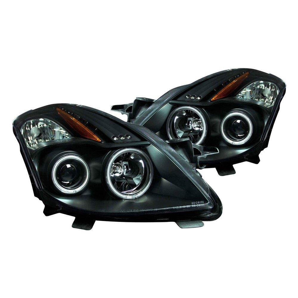anzo 121395 black ccfl halo projector led headlights. Black Bedroom Furniture Sets. Home Design Ideas