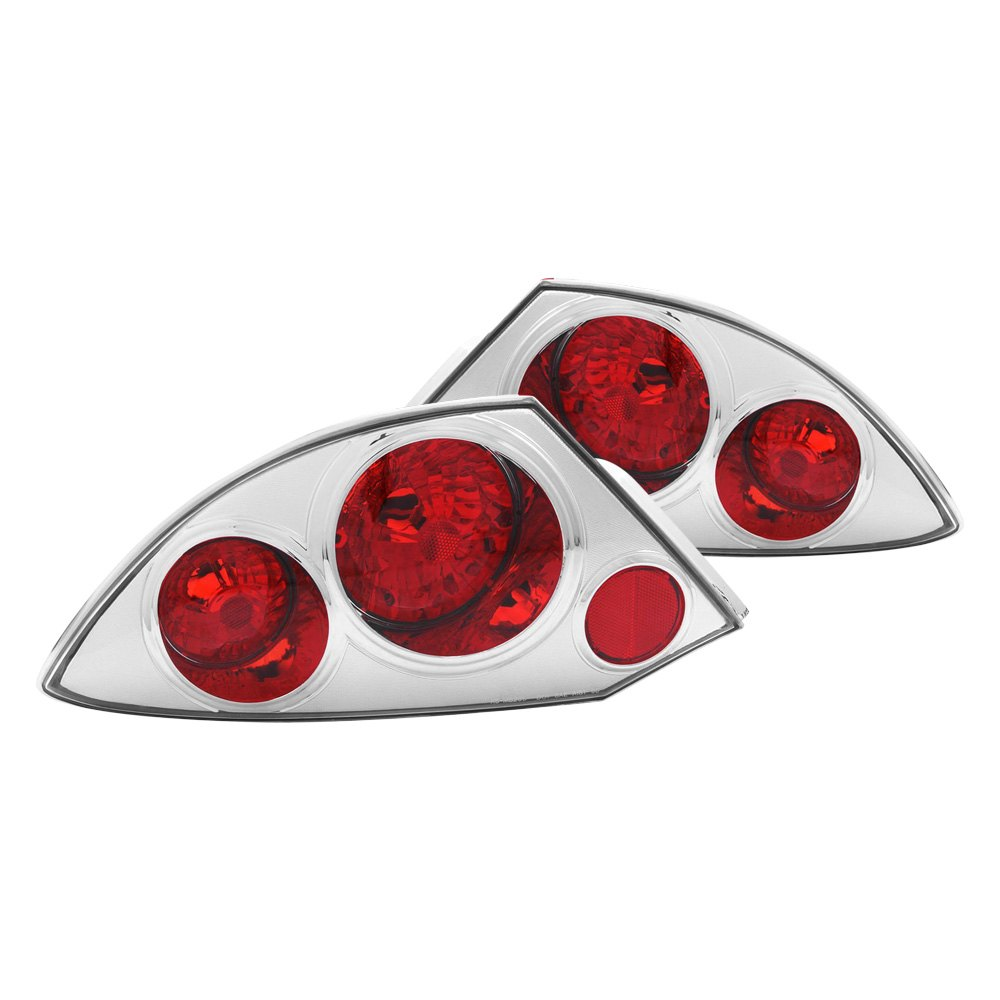 Anzo 221080 mitsubishi eclipse coupe 2003 chrome red euro tail lights for 2003 mitsubishi eclipse interior lights