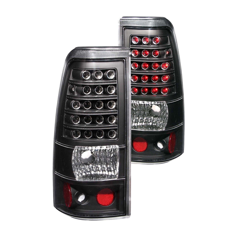 anzo 311012 gmc sierra 2005 black led tail lights. Black Bedroom Furniture Sets. Home Design Ideas