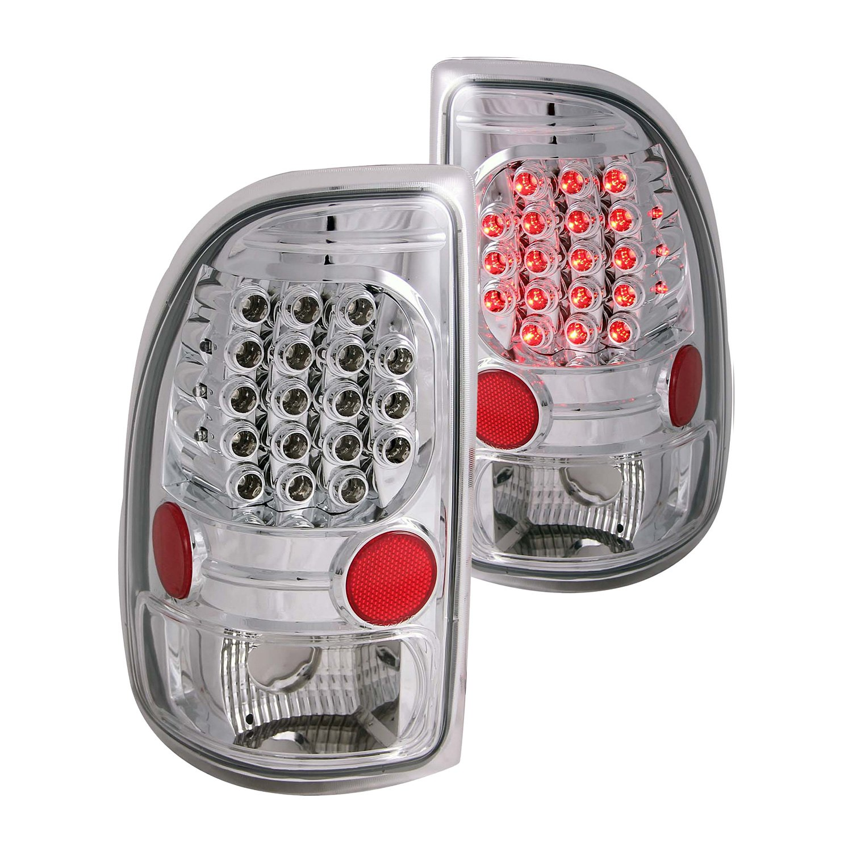 anzo 311065 dodge dakota 2001 chrome led tail lights. Black Bedroom Furniture Sets. Home Design Ideas