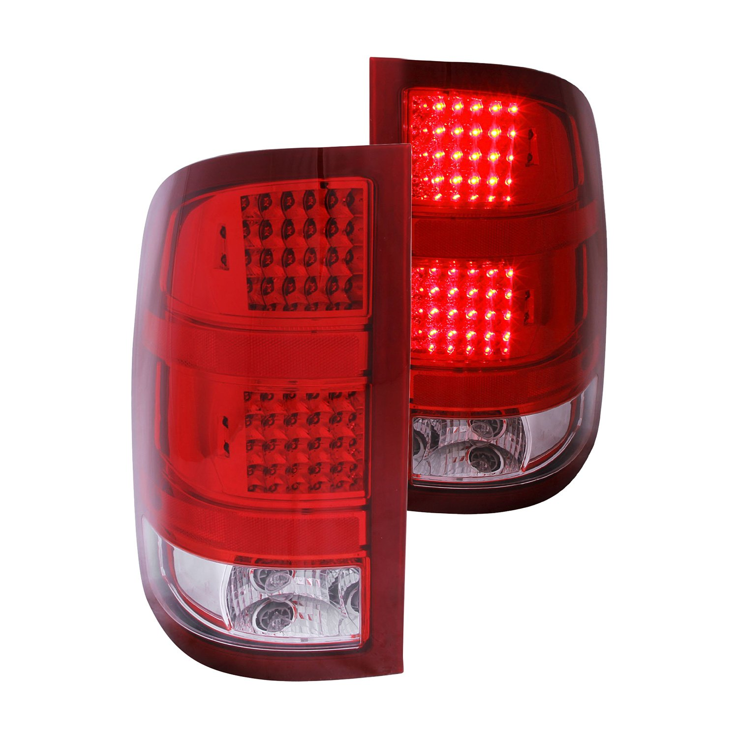 anzo gmc sierra 2011 chrome red led tail lights. Black Bedroom Furniture Sets. Home Design Ideas