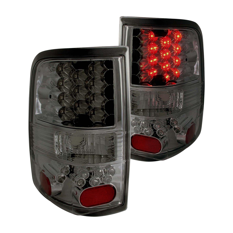 anzo 311171 ford f 150 2008 chrome smoke led tail lights. Black Bedroom Furniture Sets. Home Design Ideas