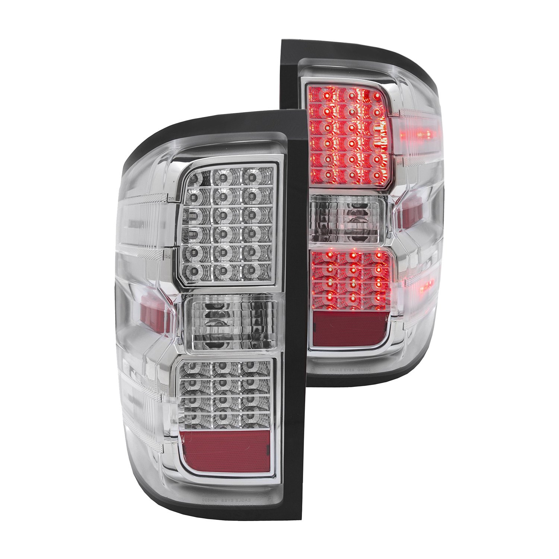 Silverado Led Lights : Anzo® 311214 - Chevy Silverado 2016 Chrome LED Tail Lights