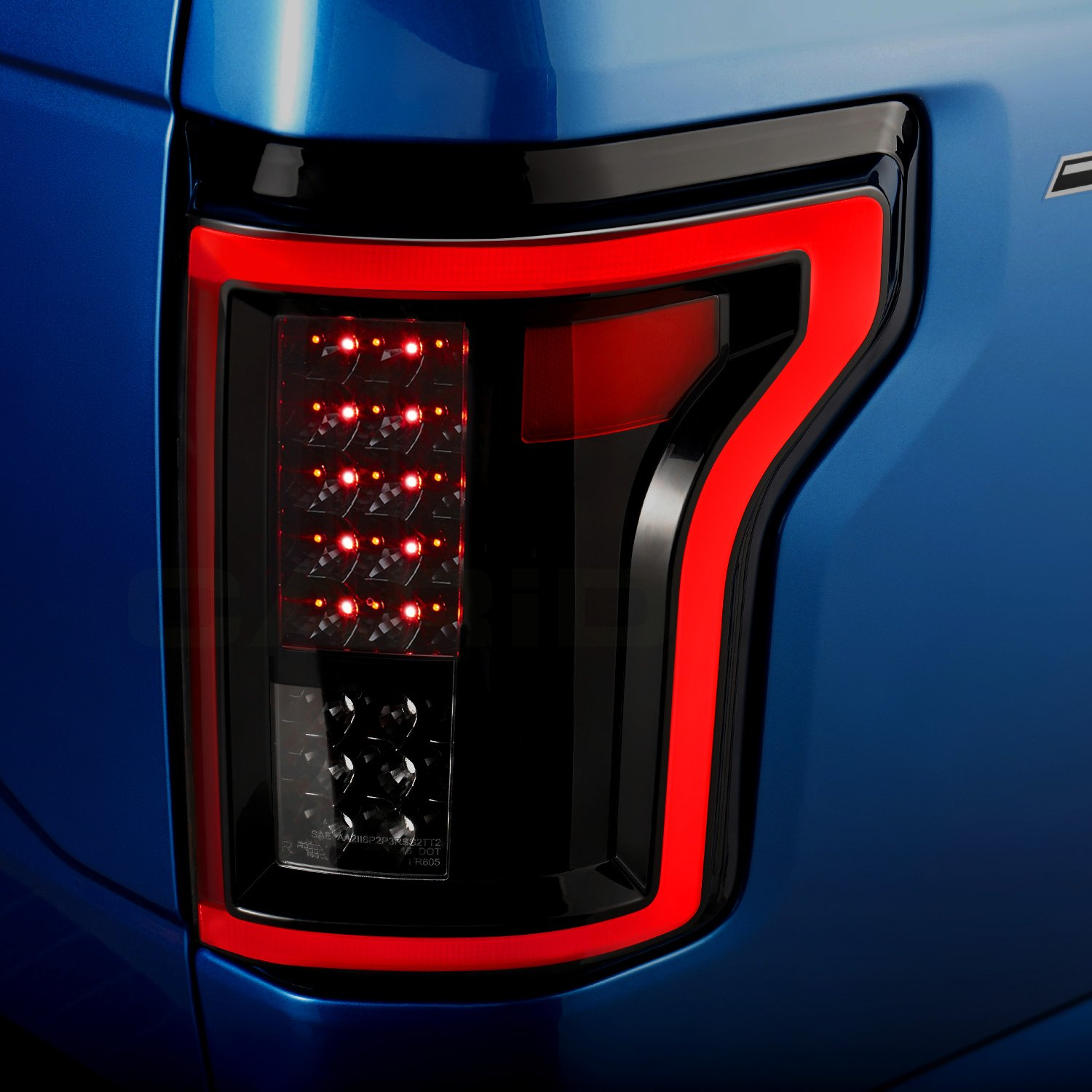 Anzo 311261 Black Fiber Optic Led Tail Lights