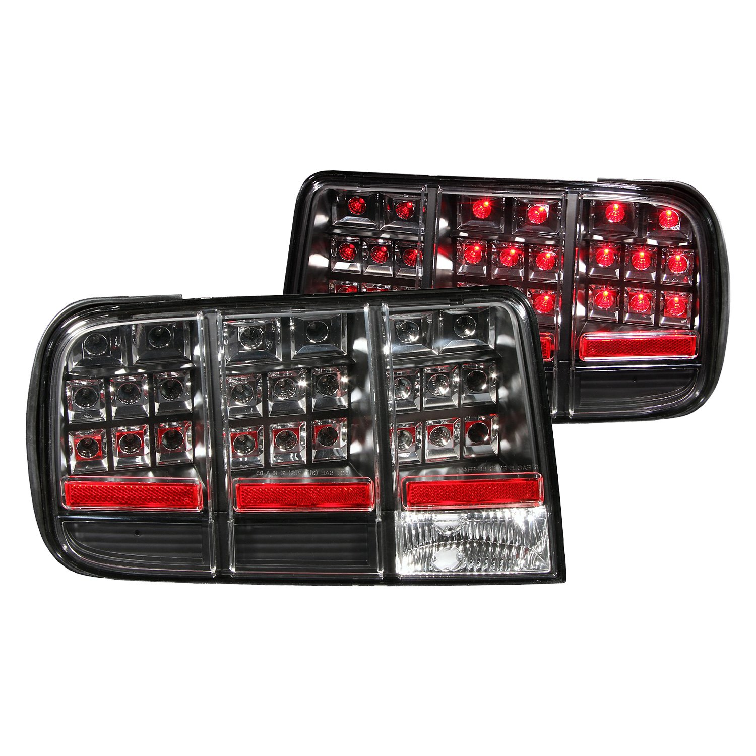 Anzo 174 Ford Mustang 2007 Black Led Tail Lights