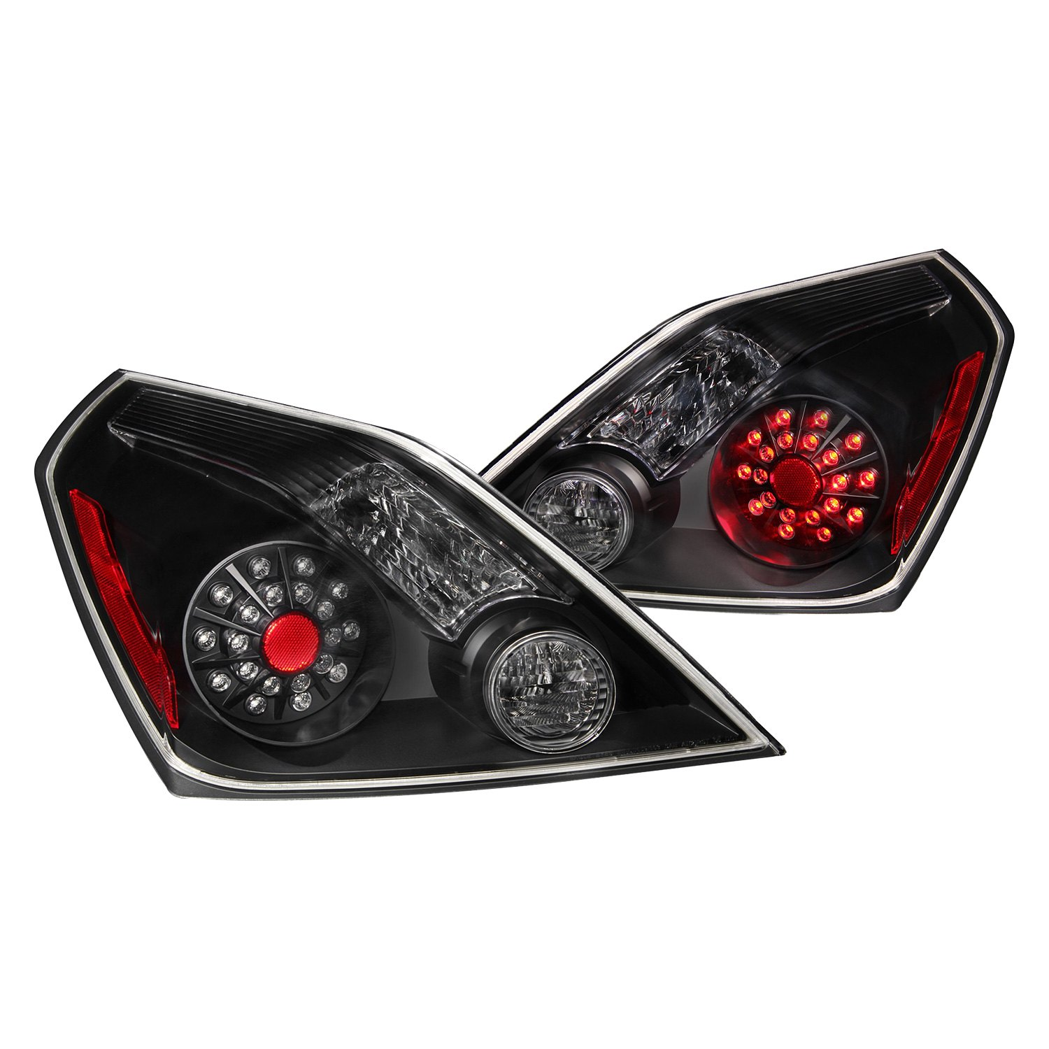 anzo 321194 nissan altima coupe 2012 black led tail lights. Black Bedroom Furniture Sets. Home Design Ideas