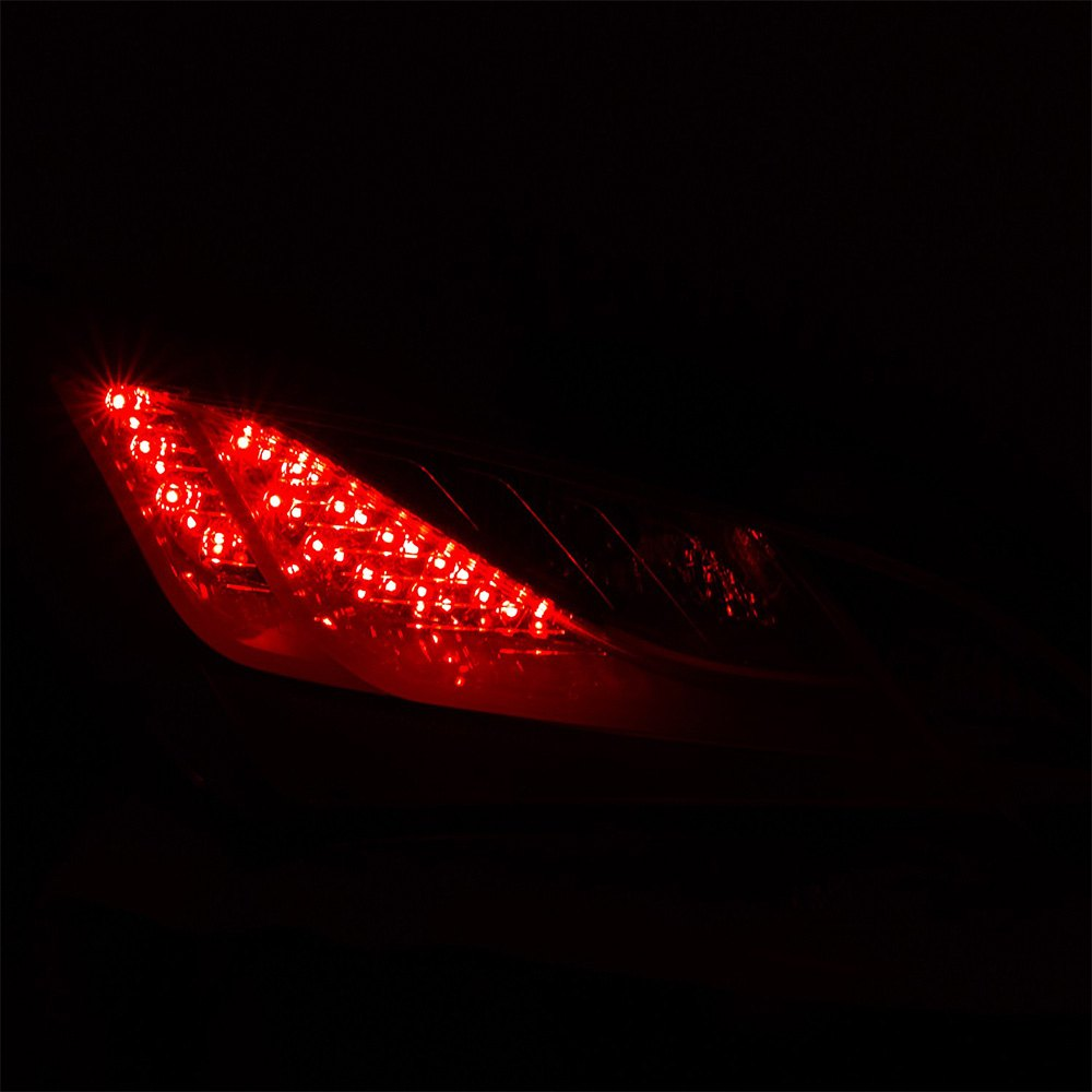 anzo 321334 hyundai genesis coupe 2013 chrome red fiber optic led tail lights. Black Bedroom Furniture Sets. Home Design Ideas