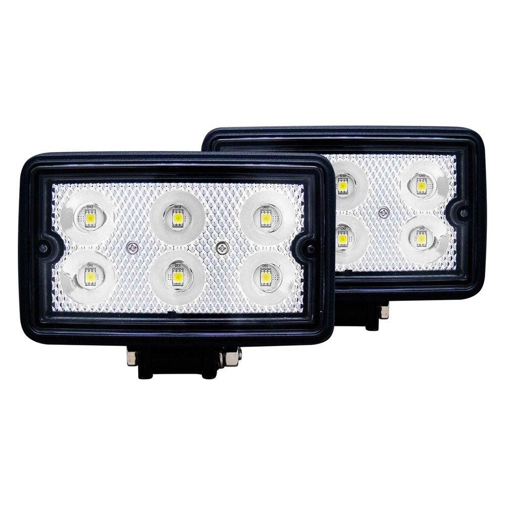 anzo 881001 3 5 2x10w rectangular flood beam led fog lights
