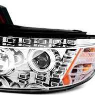 Anzo® - Chrome CCFL Dual Halo Projector Headlights with LEDs