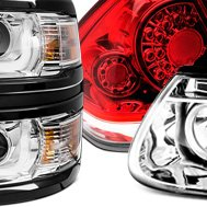 Anzo® - Red Clear LED Tail Lights