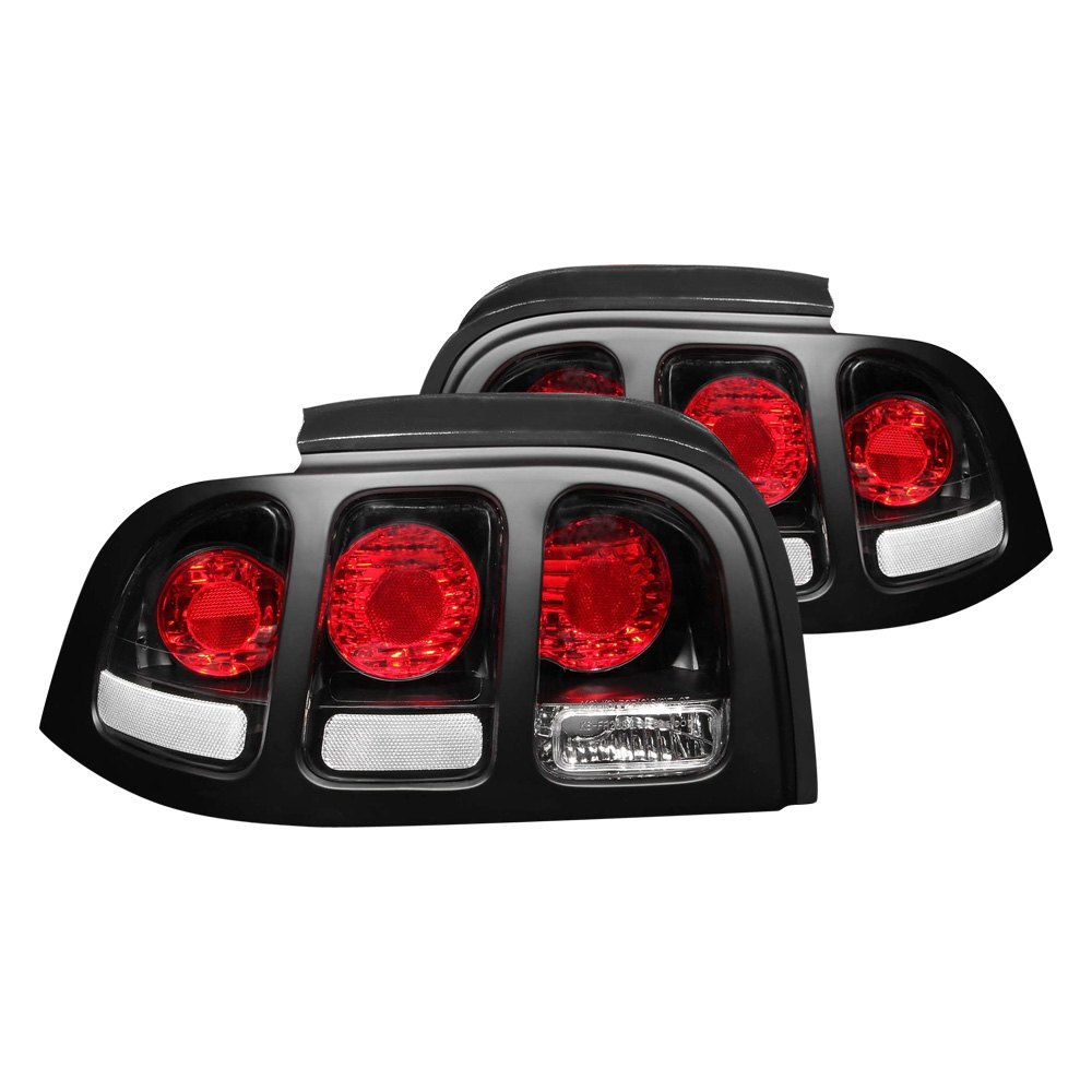 anzo 221020 ford mustang 1994 1998 black euro tail lights. Black Bedroom Furniture Sets. Home Design Ideas