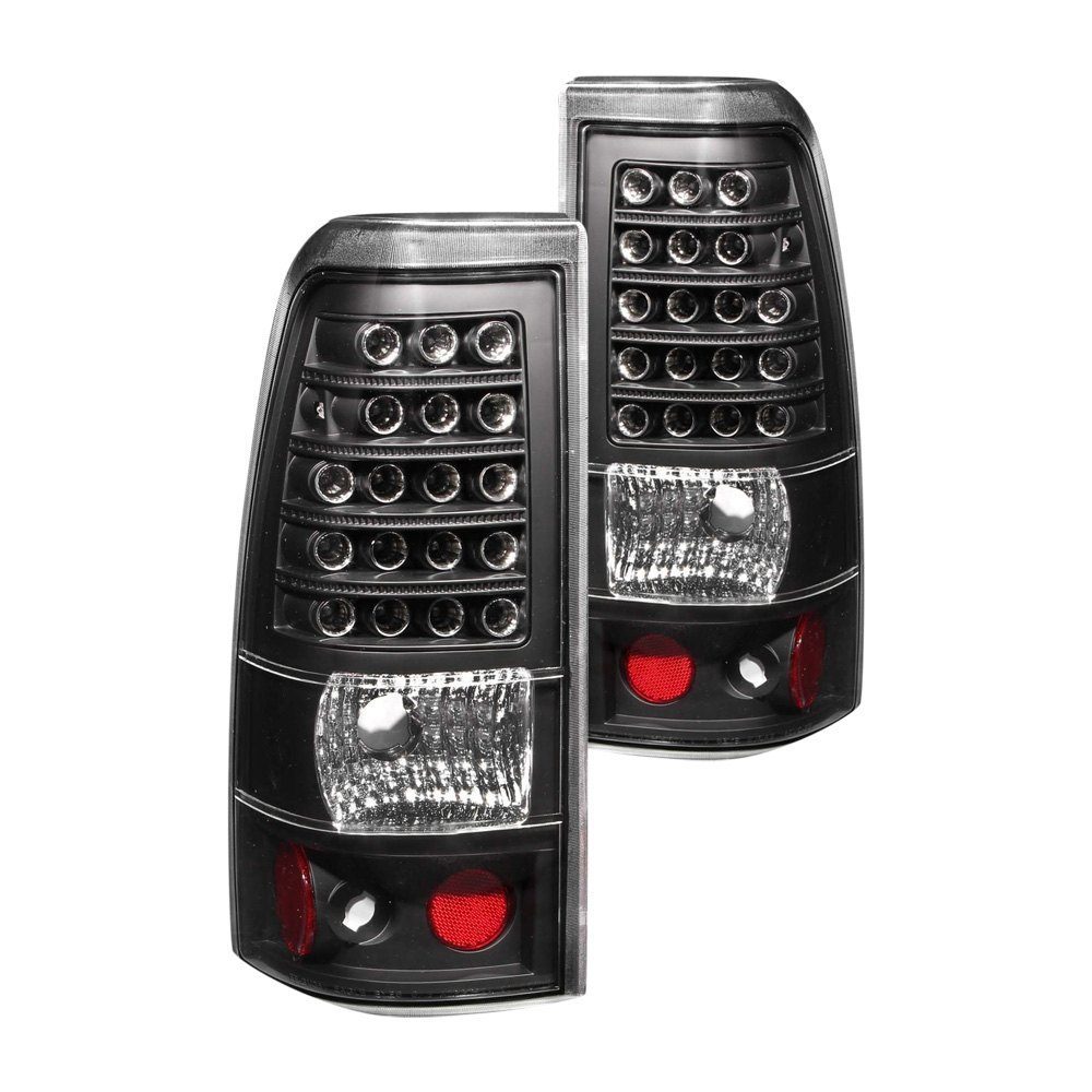 anzo 311009 chevy silverado 2003 black led tail lights. Black Bedroom Furniture Sets. Home Design Ideas