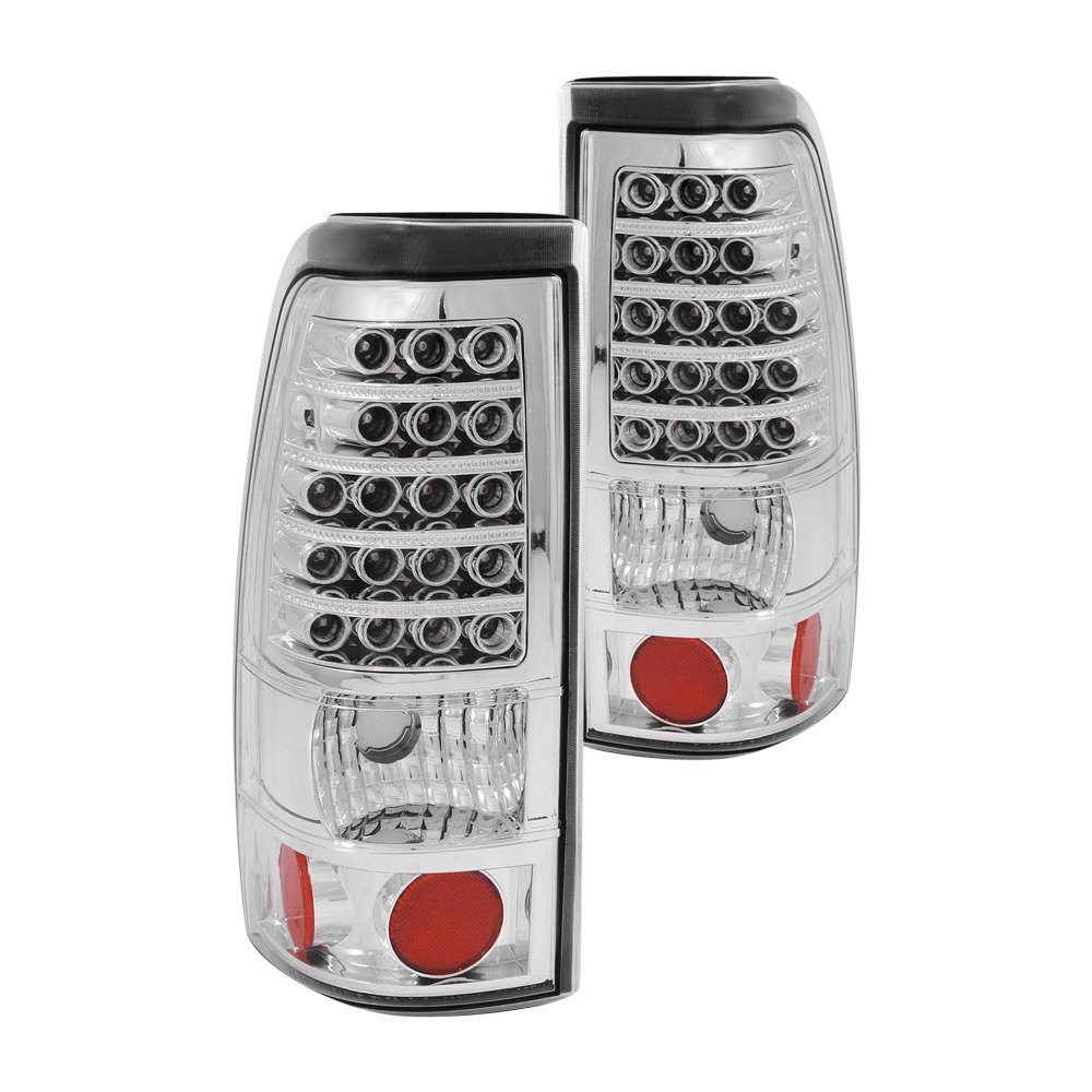 anzo 311011 gmc sierra 1999 2000 chrome led tail lights. Black Bedroom Furniture Sets. Home Design Ideas
