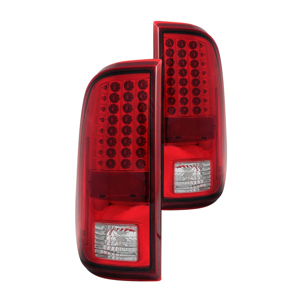 anzo 311050 ford f 250 2008 2015 red clear led tail lights. Black Bedroom Furniture Sets. Home Design Ideas