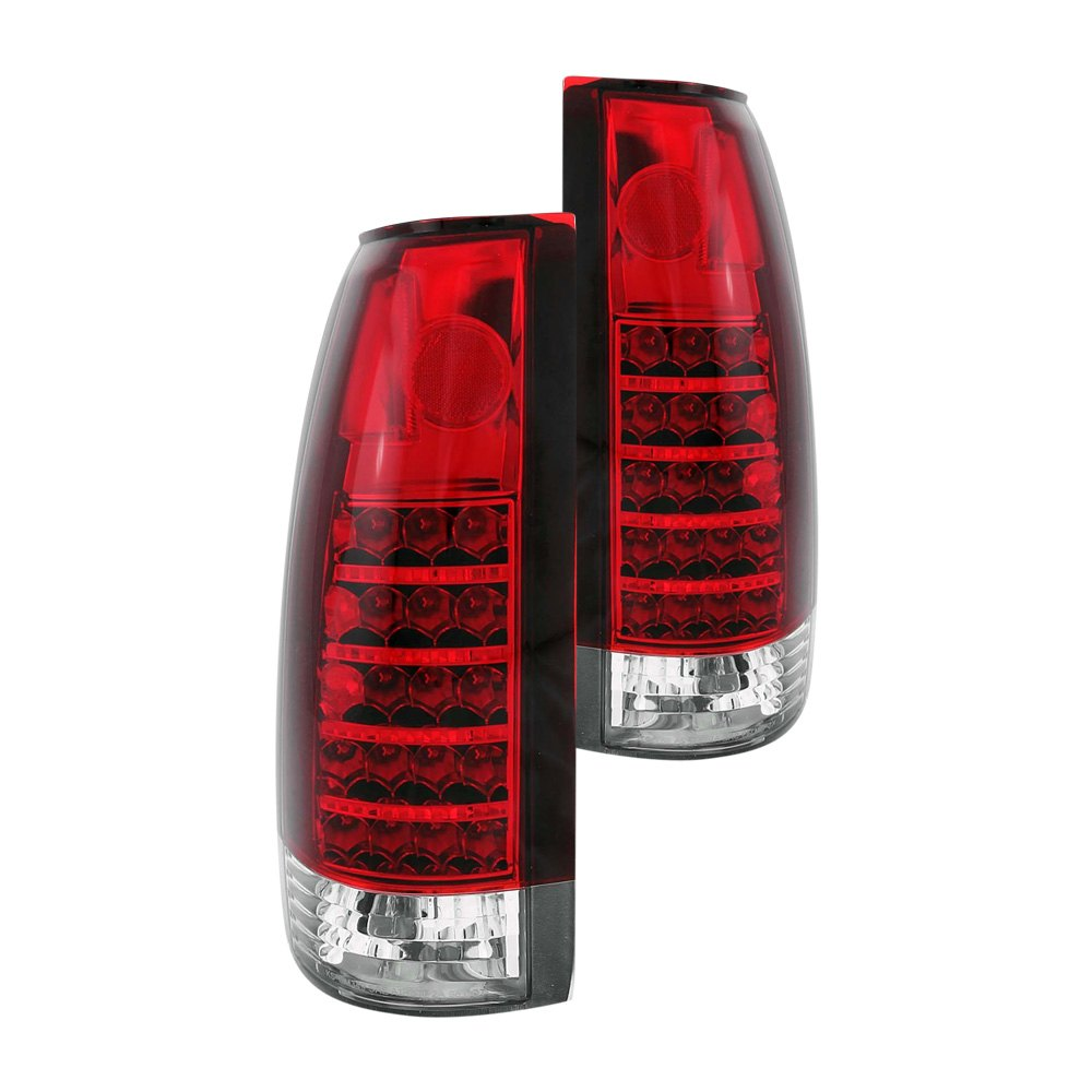 Anzo 311057 Cadillac Escalade 1999 2000 Red Clear Led Tail Lights