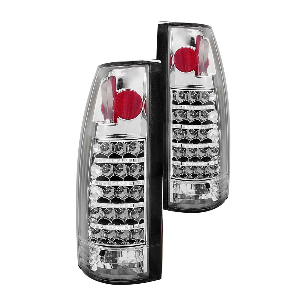 anzo 311058 cadillac escalade 1999 2000 chrome led tail lights. Black Bedroom Furniture Sets. Home Design Ideas