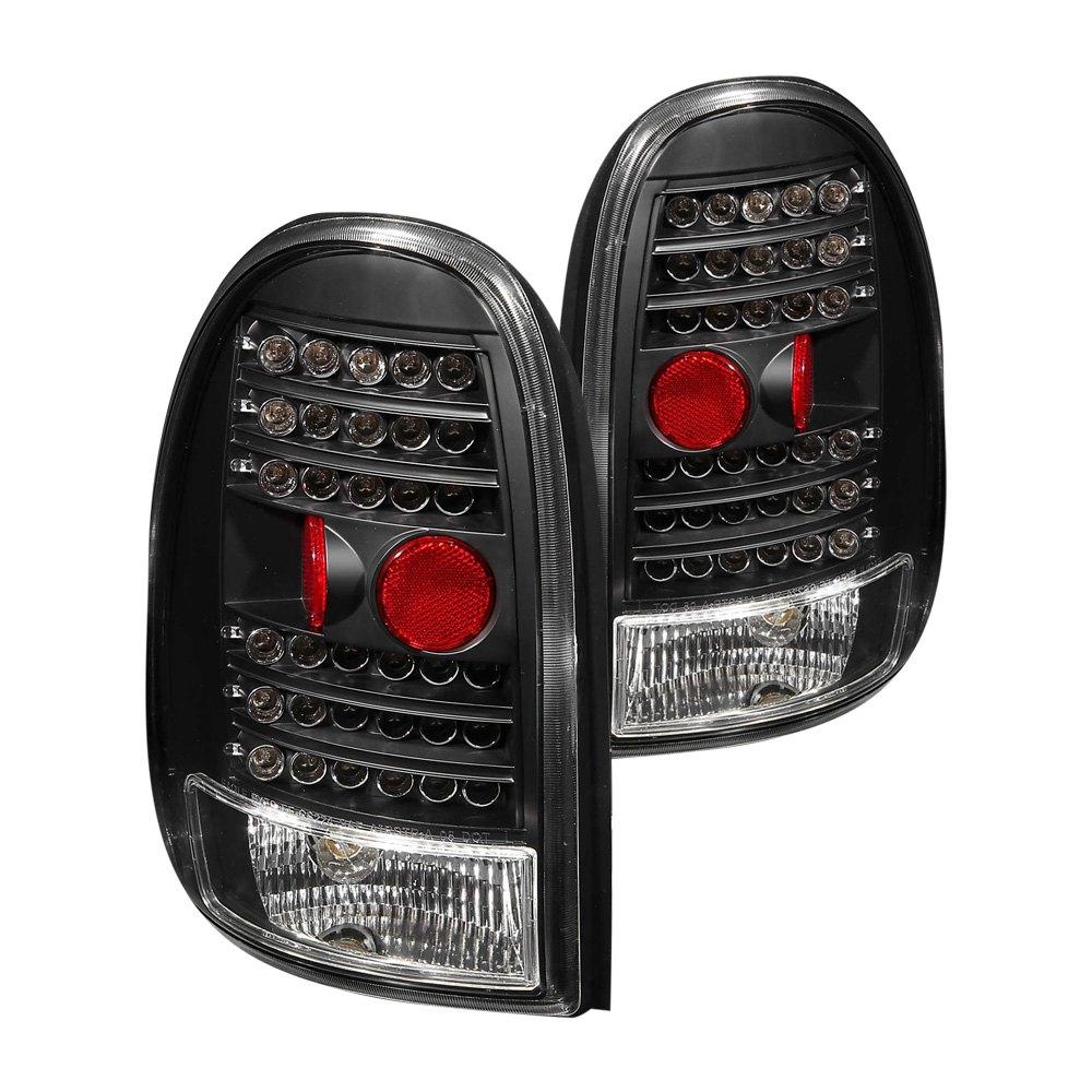 anzo 311077 dodge durango 1998 2003 black led tail lights. Black Bedroom Furniture Sets. Home Design Ideas