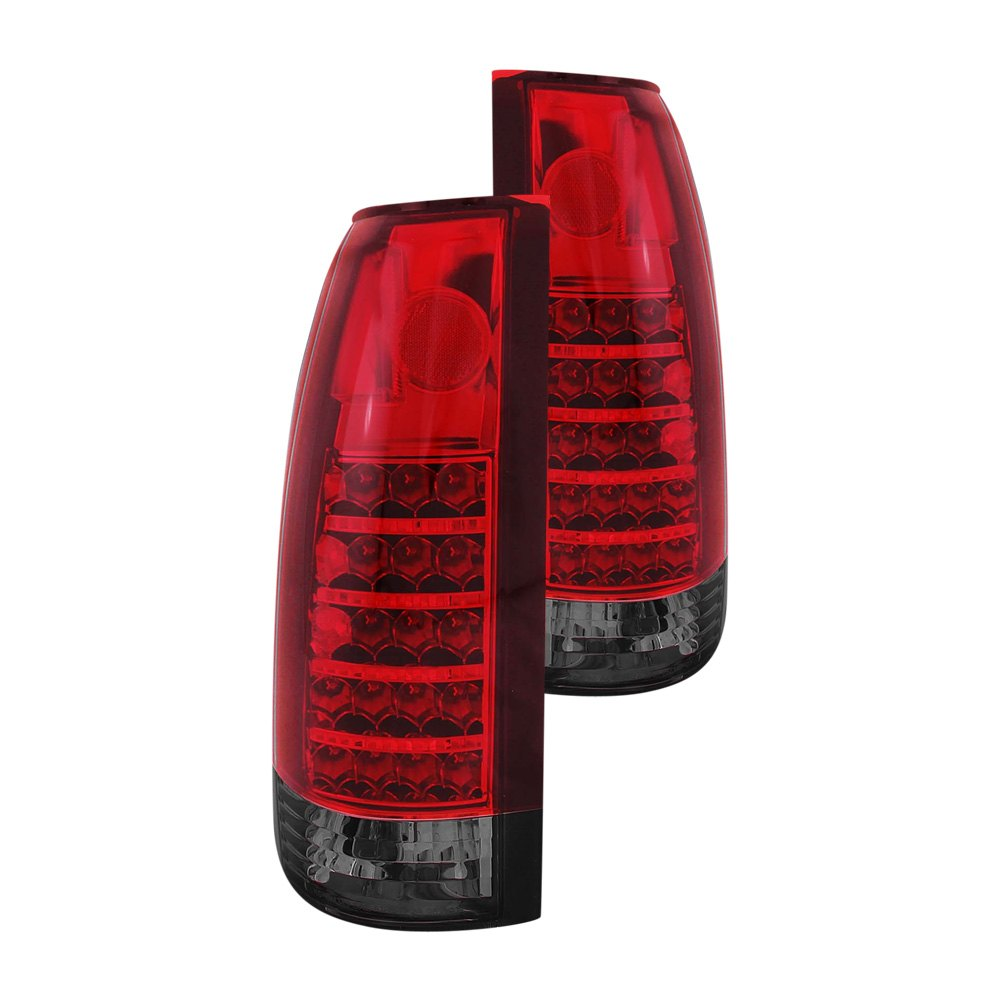 anzo 311157 cadillac escalade 1999 2000 red smoke led tail lights. Black Bedroom Furniture Sets. Home Design Ideas