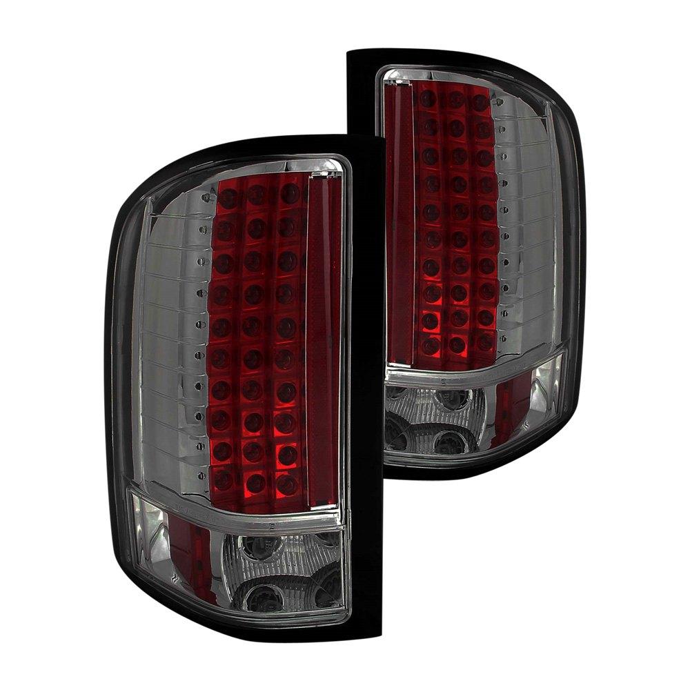 Silverado Led Lights : Anzo® 311159 - Chevy Silverado 2011-2013 Smoke LED Tail Lights